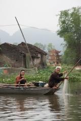 A la pêche dans les rizieres